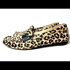 SPERRY Women's Size 6M Leopard Skin Top Siders